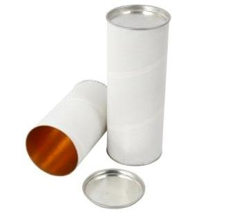 Paper Tube With Tin Cap, 1.5MM, Leminated